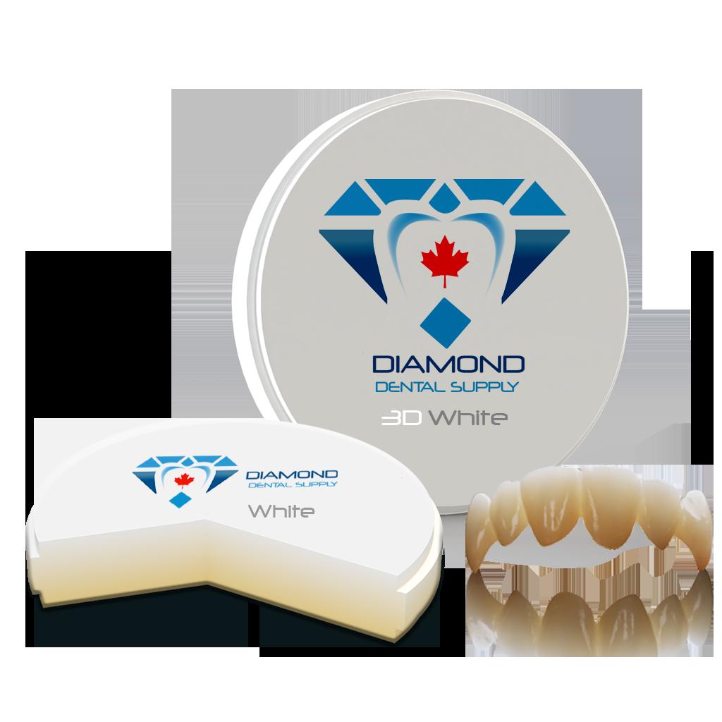 DDS 3D White Zirconia Blocks